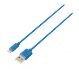 Câble de synchronisation et de chargement USB, USB A mâle vers Lightning mâle 8broches, longueur 1,00 m, noir