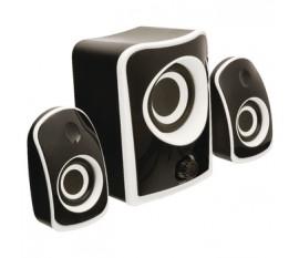Jeu de haut-parleurs 2.1 noir