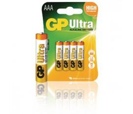 Piles alcalines AAA/LR03 1.5 V Ultra 4pcs/blister