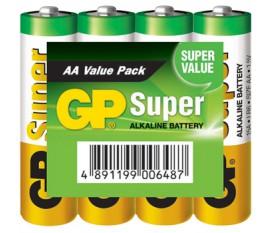 Piles alcalines AA/LR6 1.5 V Super présentoir 48x4pcs/carton