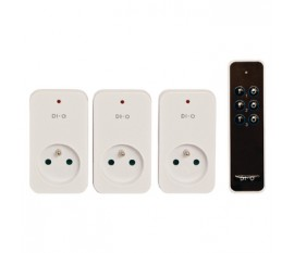 DI-O STARTER KIT WITH 3X ON/OFF SOCKET + 3 CHANNEL REMOTE CONTROL