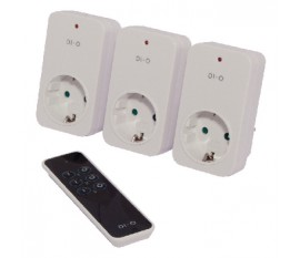 Starter kit with 3x on/off socket + 3 channel remote control