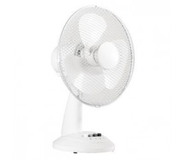 Ventilateur de table 30 cm 35 W Plastic Blanc