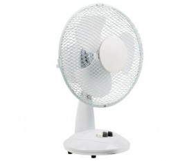 Ventilateur de table 23 cm 22 W Plastic Blanc