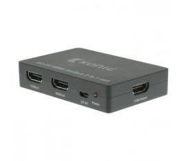 2-Port Commutateur HDMI Gris foncé