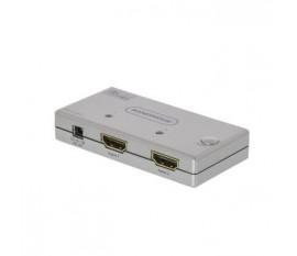 2-Port Ultra HD Commutateur HDMI Argent
