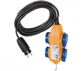 Câble d'alimentation Rallonge 5.00 m H07RN-F 3G1.5 IP44 Jaune