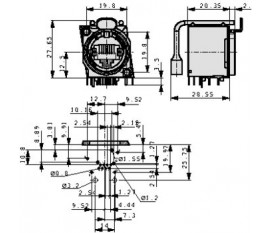 Prise d'appareil RJ 45 8 Nickel