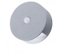 Applique LED Murale avec capteur de mouvements 0.5 W 60 lm Gris