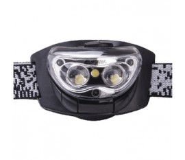 Lampe frontale 3 LED Noir