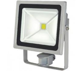 Projecteur LED avec capteur de mouvements 50 W 3500 lm Gris