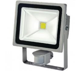 Projecteur LED avec capteur de mouvements 30 W 2100 lm Gris