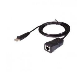 Adaptateur USB 2.0 Droit USB Type A - RJ45 Noir