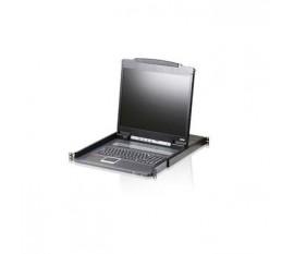 """1-Port Commutateur KVM Console LCD 19"""" Noir"""