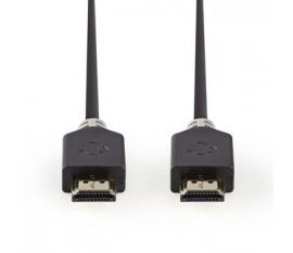 Câble HDMI™ Haute Vitesse avec Ethernet   Connecteur HDMI™ - Connecteur HDMI™   1,0 m   Anthracite