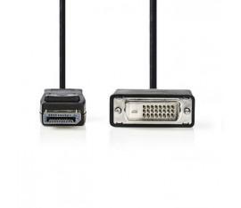 Câble DisplayPort vers DVI   DisplayPort Mâle - DVI-D Mâle à 24 + 1 Broches   1,0 m   Noir