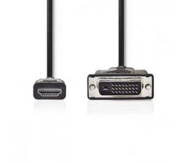 Câble HDMI™ vers DVI   Connecteur HDMI™ - DVI-D Mâle à 24 + 1 Broches   5,0 m   Noir