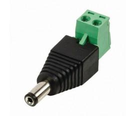 Connecteur de sécurité CCTV   Câble à 2 Fils vers Connecteur Mâle CC   5,5 x 2,1 mm