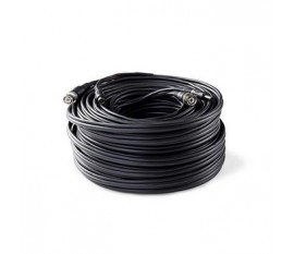 Câble de Sécurité CCTV BNC/c.c. | RG59 | 30 m | Connecteurs pré-assemblés