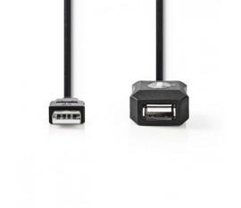 Câble d'Extension USB 2.0 Actif | A Mâle - A Femelle | 50 m | Noir