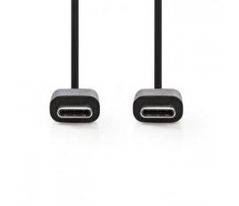 Câble USB 2.0 | Type-C Mâle - Type-C Mâle | 1,0 m | Noir