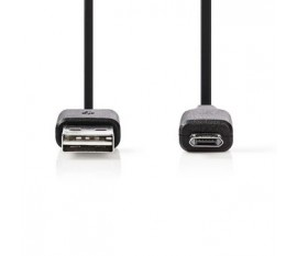 Câble USB 2.0 | A Mâle - Micro B Mâle Réversible | 1,0 m | Noir