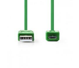 Câble USB 2.0 | A Mâle - Micro B Mâle | 1,0 m | Touche Verte