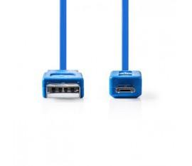 Câble USB 2.0 | A Mâle - Micro B Mâle | 1,0 m | Bleu
