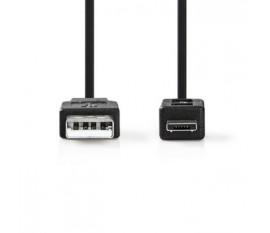 Câble USB 2.0   A Mâle - Micro A Mâle   2,0 m   Noir