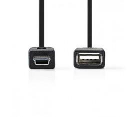 Câble On-The-Go USB 2.0   Mini Mâle à 5 Broches - A Femelle   0,2 m   Noir