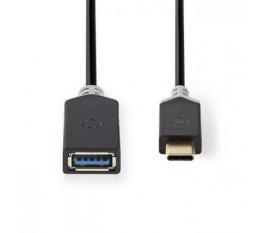Câble USB 3.0 | Type-C Mâle - A Femelle | 0,15 m | Anthracite