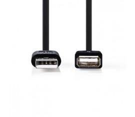 Câble USB 2.0 | A Mâle - A Femelle | 0,2 m | Noir