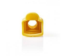 Manchon | Pour Connecteurs Réseau RJ45 - 10 pièces | Touche jaune