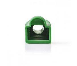 Manchon | Pour Connecteurs Réseau RJ45 - 10 pièces | Touche Verte