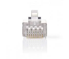 Connecteur Réseau | RJ45 Mâle - Pour Câbles Multibrins Cat 6 U/FTP | 10 pièces | Métal