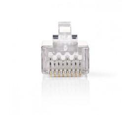 Connecteur Réseau | RJ45 Mâle - Pour Câbles Uni Cat 6 U/FTP | 10 pièces | Métal