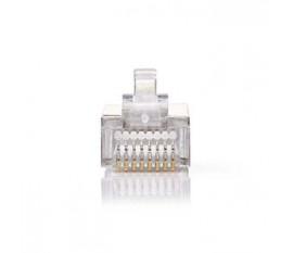 Connecteur Réseau | RJ45 Mâle - Pour Câbles Multibrins Cat 5 U/FTP | 10 pièces | Métal