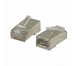 Connecteur Réseau | RJ45 Mâle - Pour Câbles Uni Cat 5 U/FTP | 10 pièces | Métal