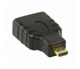 Adaptateur HDMI | Micro-connecteur HDMI - HDMI Femelle | Noir