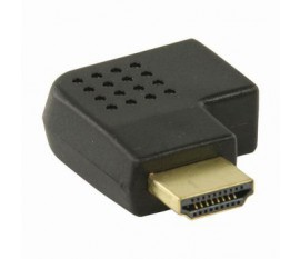 Adaptateur HDMI | Connecteur HDMI - HDMI Femelle | Coudé vers la droite | Noir