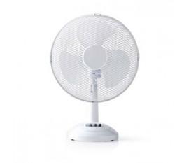 Ventilateur de Table | 30 cm de Diamètre | 3 Vitesses | Fonction d'Oscillation | Blanc