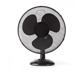 Ventilateur de Table | 40 cm de Diamètre | 3 Vitesses | Fonction d'Oscillation | Noir
