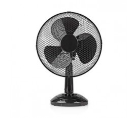 Ventilateur de Table | 30 cm de Diamètre | 3 Vitesses | Fonction d'Oscillation | Noir