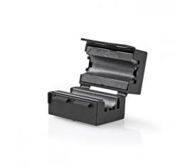 Filtre Ferrite Vidéo | 300 MHz | Compatible avec des Diamètres de Câble jusqu'à 7,5 mm | 25 pièces | Noir