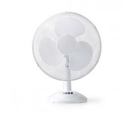 Ventilateur de Table | 40 cm de Diamètre | 3 Vitesses | Fonction d'Oscillation | Blanc