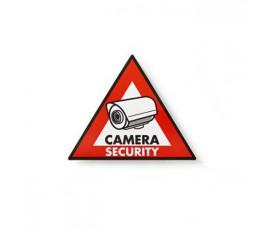 Autocollant d'Avertissement | Symbole de Vidéosurveillance | Jeu de 5 pièces