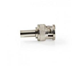 Connecteur BNC | Homme | Compatible avec les Câbles Coaxiaux de 6,0 mm | 25 pièces | Métal