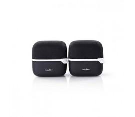 Haut-Parleur Bluetooth®   15 W   True Wireless Stereo (TWS)   2 pièces   Noir/Blanc