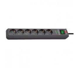 Câble d'alimentation Rallonge 5 m H05VV-F 3G1.5 IP20 Anthracite
