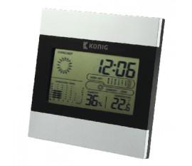 Station météo / Horloge LCD Intérieur Gris /Noir